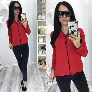 Рубашка красная с длинным рукавом С7755