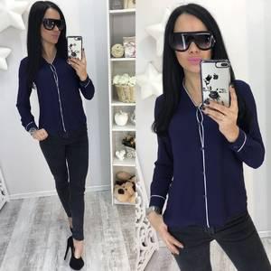 Рубашка синяя с длинным рукавом С7759