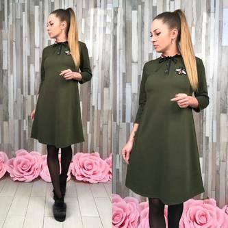 Платье короткое с рукавом 3/4 С7730