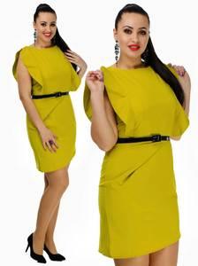 Платье короткое футляр однотонное С7685