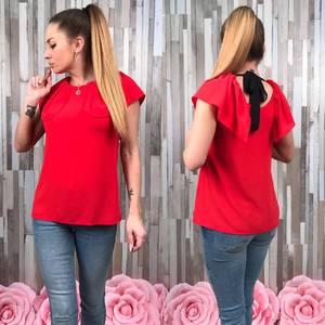 Блуза летняя красная без рукавов С8781
