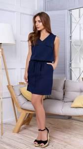 Платье короткое повседневное без рукавов Т1639