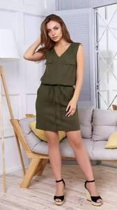 Платье короткое повседневное без рукавов Т1640