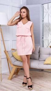 Платье короткое повседневное без рукавов Т1641