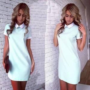 Платье короткое повседневное нарядное У1186