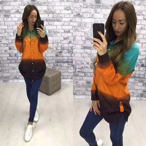 Рубашка с длинным рукавом У9553