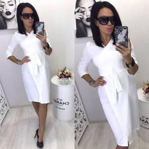 Платье короткое вечернее белое П3578