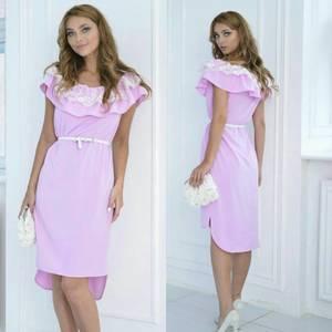 Платье короткое нарядное однотонное Т7897