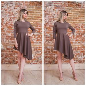 Платье короткое коктейльное современное Т7558