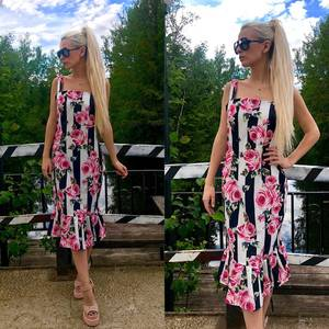 Платье короткое нарядное с принтом Т7575