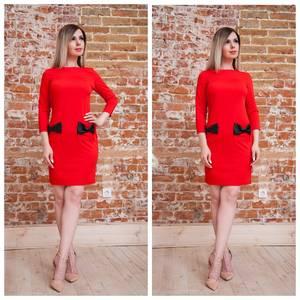 Платье короткое нарядное красное Т7564