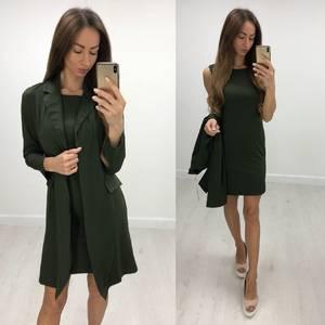 Платье Двойка элегантное современное короткое Т7684