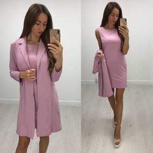 Платье Двойка короткое элегантное современное Т7685