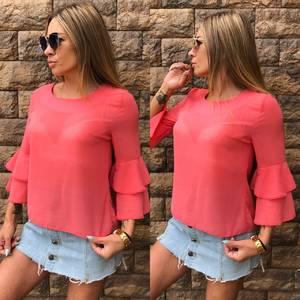 Блуза летняя прозрачная Т7634
