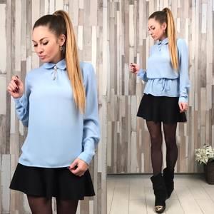 Блуза голубая Т2157