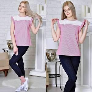 Блуза летняя розовая Т4929