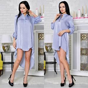 Платье-туника короткое с длинным рукавом современное Т2171