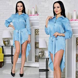 Платье-туника короткое с длинным рукавом современное Т2174