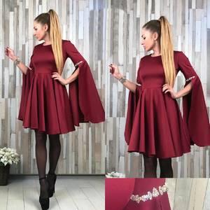 Платье короткое коктейльное красное Т2177