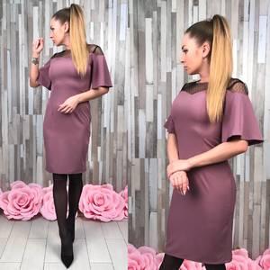 Платье короткое вечернее элегантное Т4926