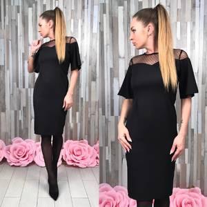 Платье короткое вечернее элегантное Т4927