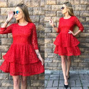 Платье короткое вечернее красное Т5018