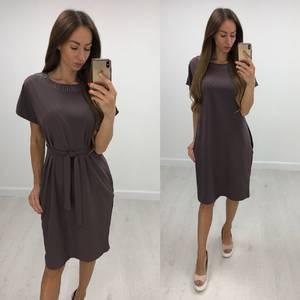 Платье короткое нарядное однотонное Т7841