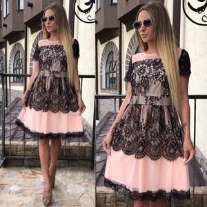 Платье короткое коктейльное элегантное Т7863