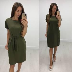 Платье короткое нарядное однотонное Т7843