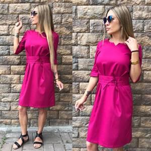 Платье короткое классическое однотонное Т8001