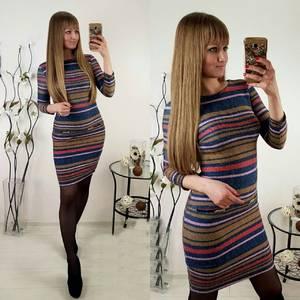 Платье короткое трикотажное облегающее П1391