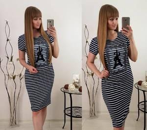 Платье короткое с принтом облегающее Т8334