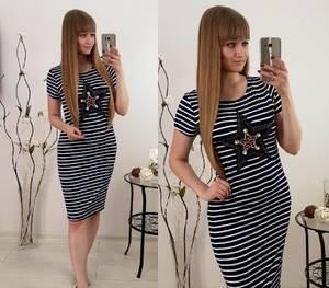 Платье короткое с принтом облегающее Т8336