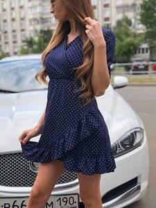 Платье короткое с принтом летнее Т7510