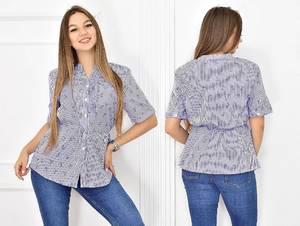 Блуза летняя с коротким рукавом Т5445