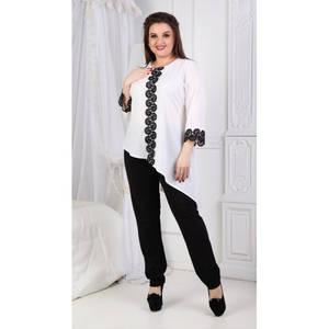 Блуза нарядная белая Т8053