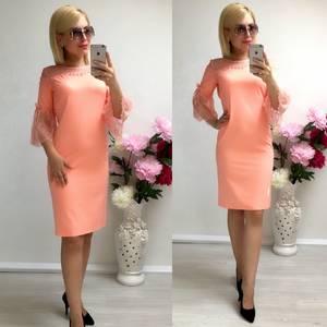 Платье короткое нарядное облегающее Т8041