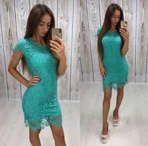 Платье короткое нарядное однотонное Т8082