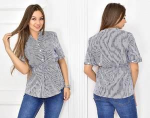 Блуза летняя с коротким рукавом Т5446