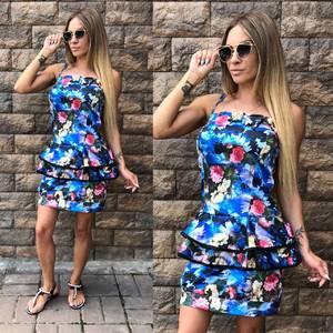 Платье короткое с принтом облегающее Т8112