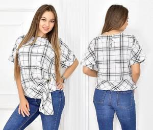 Блуза летняя с коротким рукавом Т5447