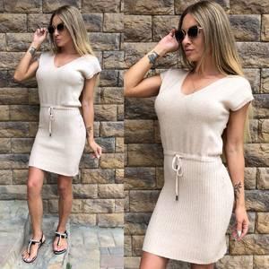Платье короткое повседневное однотонное Т8143