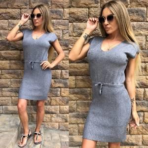 Платье короткое повседневное однотонное Т8144