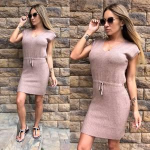 Платье короткое повседневное однотонное Т8140