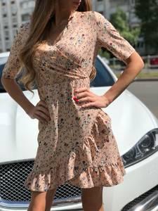 Платье короткое с принтом летнее Т7512