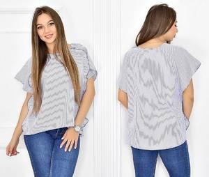 Блуза летняя с коротким рукавом Т5449