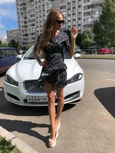 Платье короткое с принтом летнее Т7513