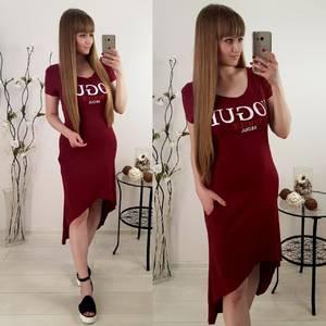 Платье короткое с принтом летнее Т6079