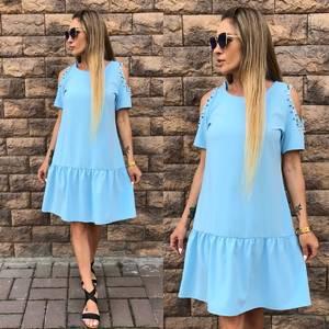 Платье короткое нарядное однотонное Т6065