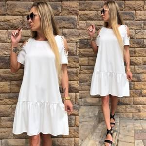 Платье короткое нарядное белое Т6067